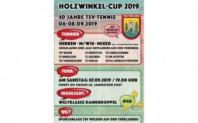 Einladung Holzwinkelcup 2019 und 40 Jahre TSV Welden Tennis